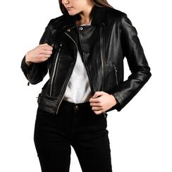 Chaqueta biker en eco-piel color negro, Primadonna, 156501128EPNEROL, 001 preview