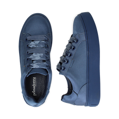 Sneakers celesti in tessuto, suola 4 cm, Scarpe, 142509512TSCELE036, 003 preview