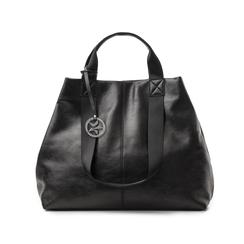 Maxi-bag nera in laminato, Borse, 132384211LMNEROUNI, 001 preview