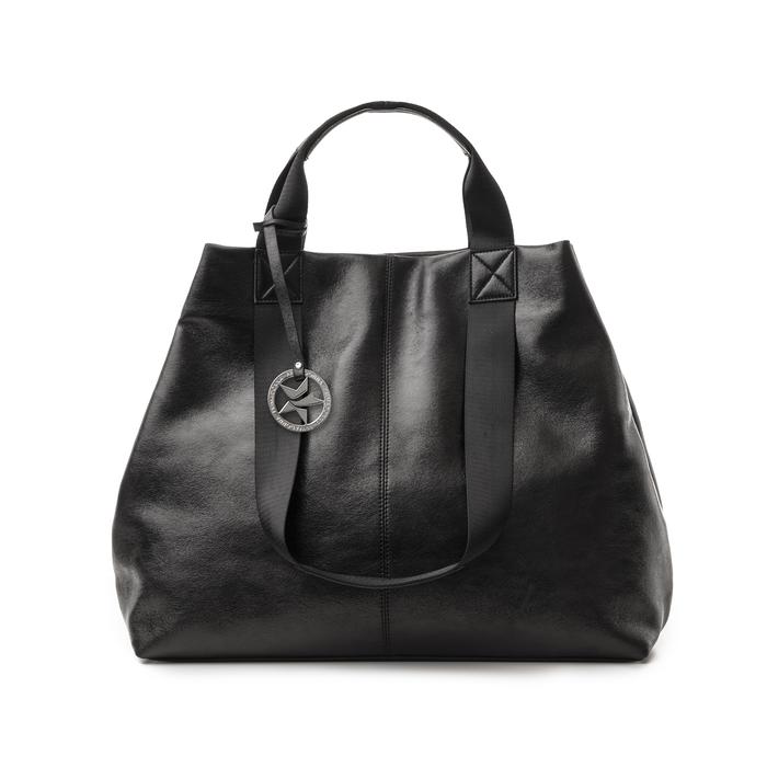 Maxi-bag nera in laminato, Borse, 132384211LMNEROUNI