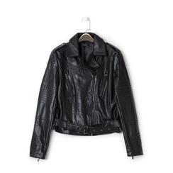 Biker jacket con mini boules nere, NEW IN, 136500021EPNERO3XL, 001a