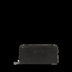 Portefeuille noir imprimé vipère, Primadonna, 165122519EVNEROUNI, 001a