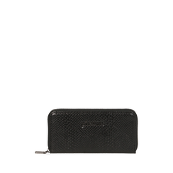 Portafogli nero stampa vipera, Primadonna, 165122519EVNEROUNI, 001a