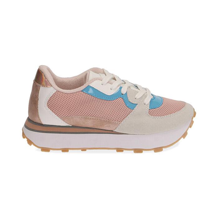 Sneakers rosa in tessuto tecnico , Primadonna, 177519601TSROSA035