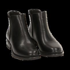 Chelsea boots neri, tacco 4 cm , Primadonna, 160621678EPNERO037, 002 preview