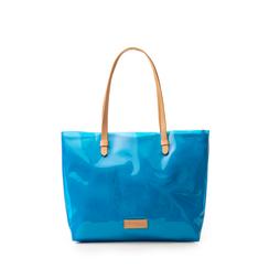 Maxi-bag blu in pvc, Primadonna, 133764210PVBLUEUNI, 001a