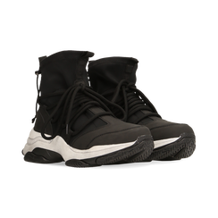 Sneakers nere dad shoes a calza in lycra, Primadonna, 124108060LYNERO038, 002 preview