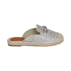 Slippers argento glitter, Chaussures, 154951159GLARGE036, 001 preview