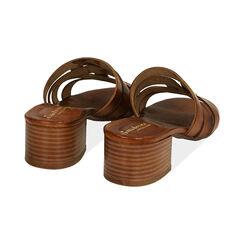 Sandali cognac in pelle di vacchetta, tacco 4,5 cm , Primadonna, 177248215VACOGN036, 004 preview