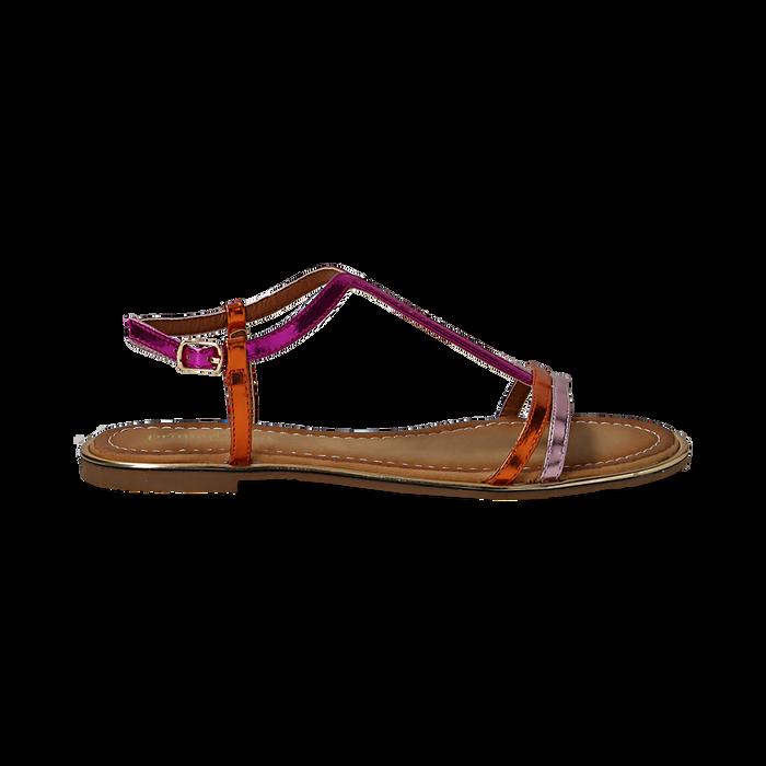 Sandali fucsia/arancio effetto specchio, Primadonna, 134929185SPFUAR035