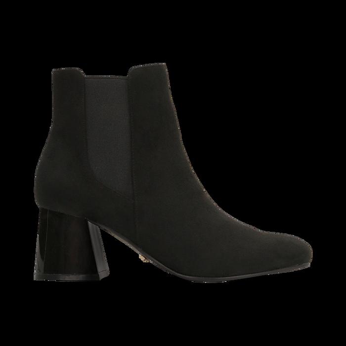 Chelsea Boots Neri Tacco con Largo Alto, Primadonna, 122707127MFNERO