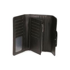 Portafogli nero stampa cocco, Primadonna, 185102538CCNEROUNI, 003 preview