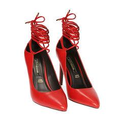 Décolleté lace-up rosse, tacco 10 cm , Primadonna, 182113103EPROSS035, 002 preview
