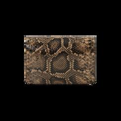 Borsa piccola nero/marrone stampa pitone, Primadonna, 165122947PTNEMAUNI, 003 preview