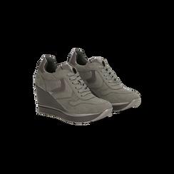 Sneakers grigie con zeppa platform, Primadonna, 122808661MFGRIG035, 002