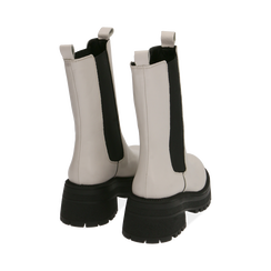 Chelsea boots bianchi in pelle di vitello , Primadonna, 168915835VIPANN035, 004 preview