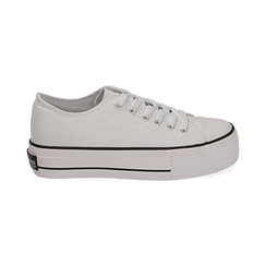 Sneakers bianche in canvas, Primadonna, 152619385CABIAN039, 001 preview