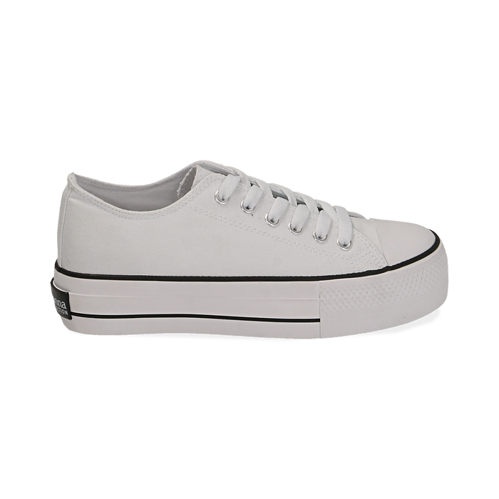 Sneakers bianche in canvas, Primadonna, 152619385CABIAN039