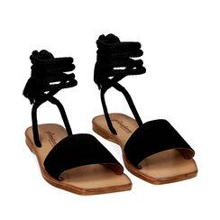 Sandales en daim noires, Primadonna, 17A131486CMNERO035, 002a