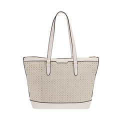 Maxi-bolso trenzado blanco, Primadonna, 172301047EPBIANUNI, 001a