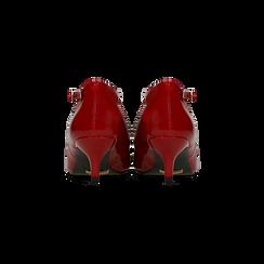 Décolleté rosse kitten heels in vernice, tacco 3 cm, Primadonna, 124951721VEROSS036, 003 preview