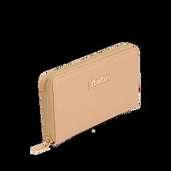 Portafogli nude in eco-pelle, Primadonna, 155122519EPNUDEUNI, 002a