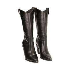 Camperos noirs, talon de 9,5 cm, Primadonna, 172139023EPNERO036, 002 preview
