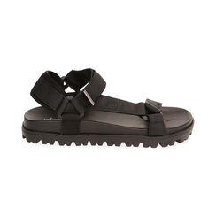 Sandales de plage en tissu noir, Primadonna, 170910057TSNERO035, 001 preview
