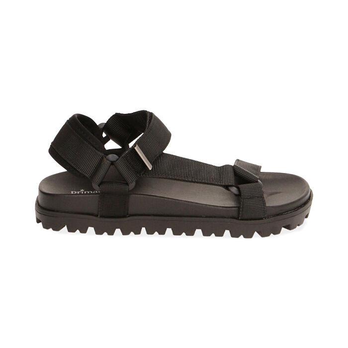 Sandales de plage en tissu noir, Primadonna, 170910057TSNERO035