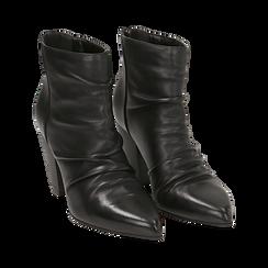 Camperos neri in pelle, tacco 8,5 cm , Scarpe, 14D600911PENERO035, 002 preview