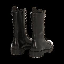 Botas militares de piel en color negro, Primadonna, 167710810PENERO036, 003 preview