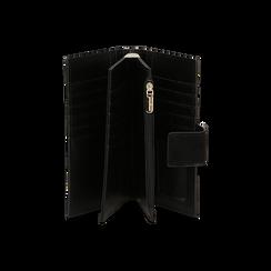Portafogli nero in microfibra con 25 vani , Borse, 133322158MFNEROUNI, 003 preview