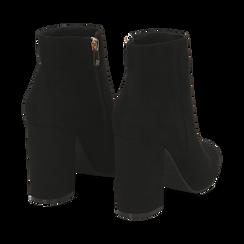 Ankle boots neri in microfibra, tacco 9 cm , Primadonna, 162708221MFNERO035, 004 preview