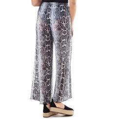 Pantaloni bianco/neri stampa rettile, Primadonna, 17L571059TSBINEUNI, 002a