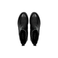 Chelsea Boots neri con lavorazione Duilio, Scarpe, 120800205EPNERO, 004 preview