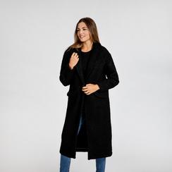 Cappotto lungo nero lavorazione shearling, Saldi, 12G750756TSNERO, 002 preview