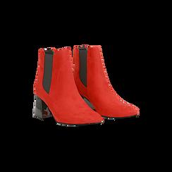 Tronchetti rossi con tacco scultura laccato 6 cm, Primadonna, 122707127MFROSS036, 002 preview