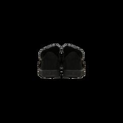 Sneakers nere  slip-on con dettagli faux-fur e borchie, Scarpe, 129300023MFNERO, 003 preview