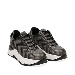 Dad shoes canna di fucile glitter, suola 5 cm , Scarpe, 142898804GLCANN035, 002a