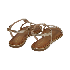 Sandali oro in laminato, SALDI, 154985238LMOROG039, 004 preview