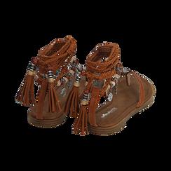 Sandali infradito lace-up cuoio , Scarpe, 153683578EPCUOI, 004 preview