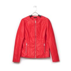 Giacca sfiancata rossa in eco-pelle , Primadonna, 136500777EPROSSL, 001 preview