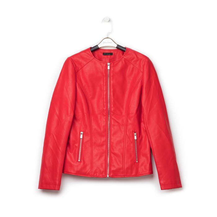 Giacca sfiancata rossa in eco-pelle , Primadonna, 136500777EPROSSL