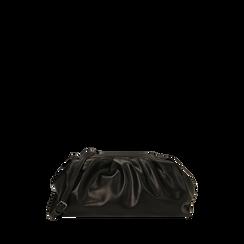 Maxi clutch nera, IDEE REGALO, 165122668EPNEROUNI, 001a