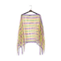 Poncho multicolor in tessuto laminato , Abbigliamento, 13B445051LMMULTUNI, 001 preview