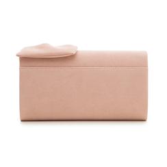 Pochette rosa nude in microfibra con fiocco, Borse, 132300508MFNUDEUNI, 003 preview