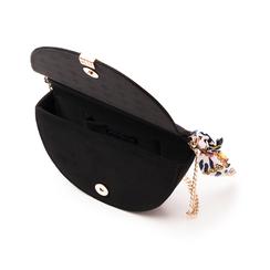 Borsa a mano nera in microfibra con manico foulard in raso, Borse, 145122415MFNEROUNI, 004 preview
