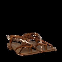Sandali infradito cuoio in eco-pelle, Primadonna, 13B961532EPCUOI035, 002a