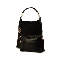 Maxi-bag nera in microfibra, Primadonna, 15D208513MFNEROUNI, 004 preview