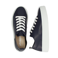 Sneakers blu in eco-pelle, Scarpe, 132500778EPBLUE036, 003 preview